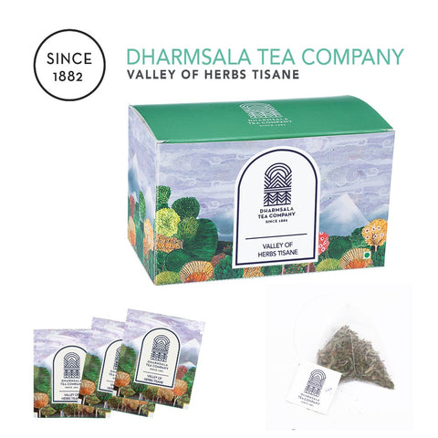 Valley of Herbs Tisane Teabags - Tulsi & Ginger