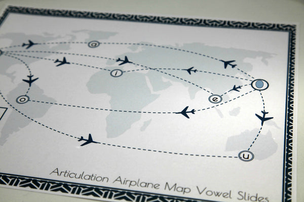 Articulation Placemats - Airplane Map