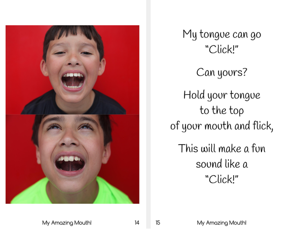 My Amazing Mouth! - Oral Motor Practice Printable Book