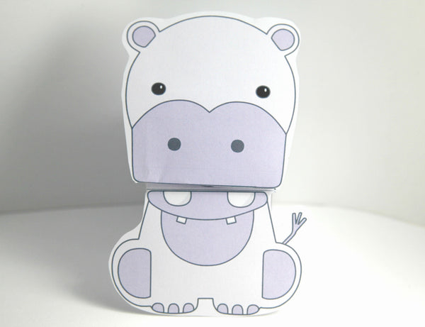 Hippo Talking Paper Puppet