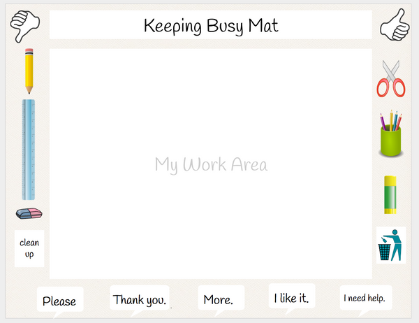 Keeping Busy Printable Placemat