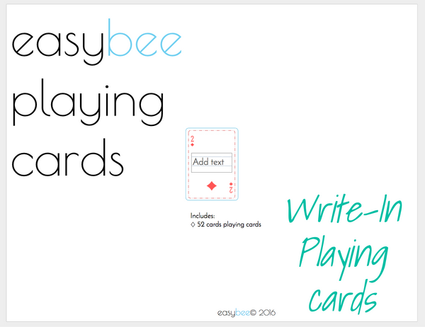 JFF Printable Mini Playing Cards- write in