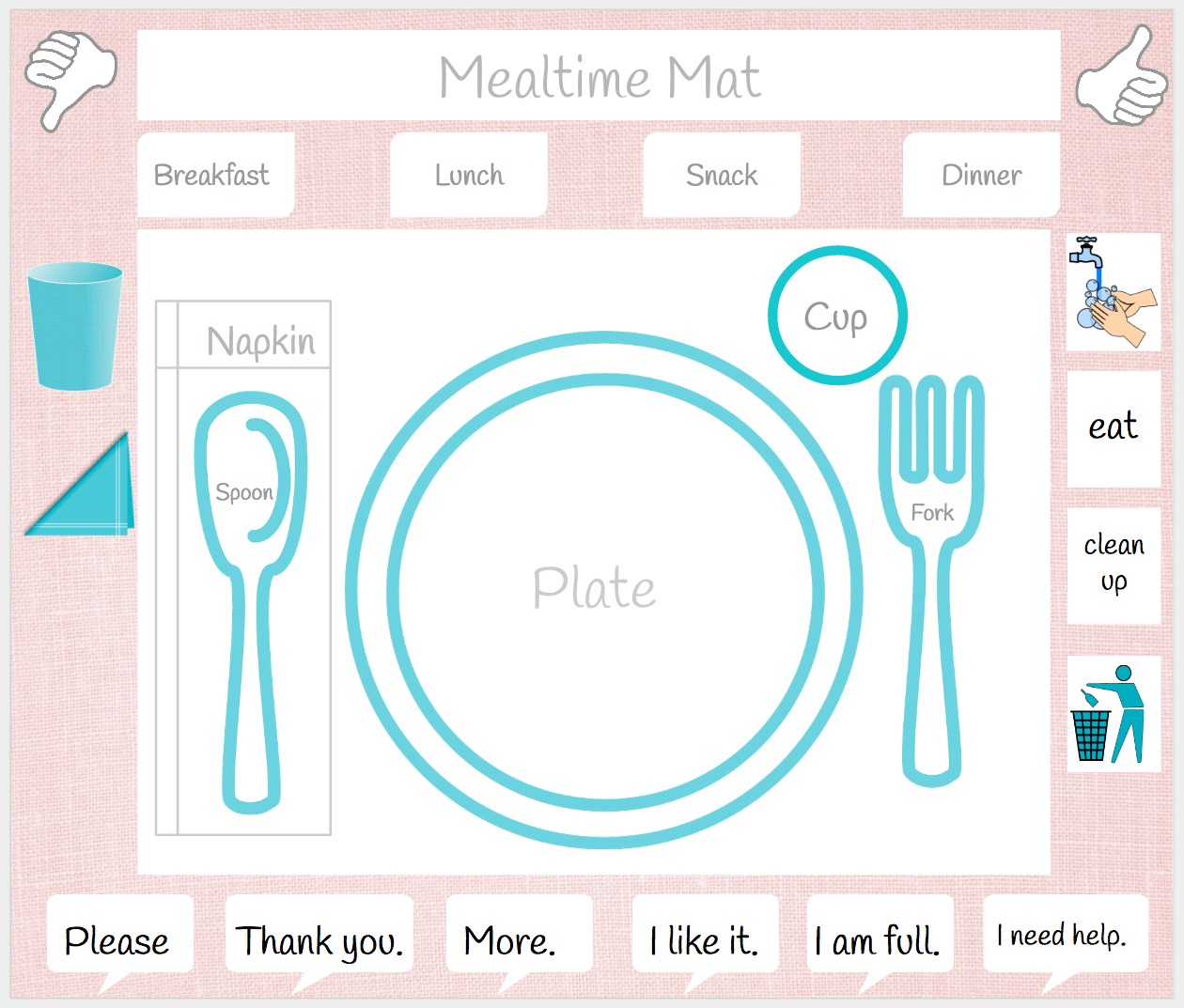 photo regarding Printable Placemat titled Mealtime Printable Placemat