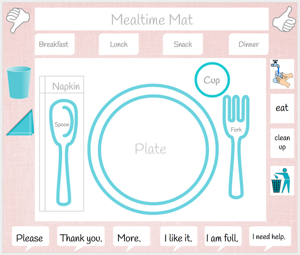 photograph about Printable Placemats identified as Paper Placemats - Easybee
