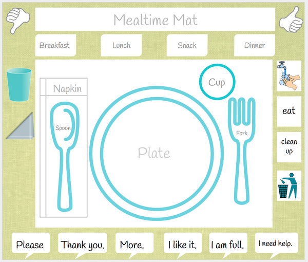 Mealtime Printable Placemat