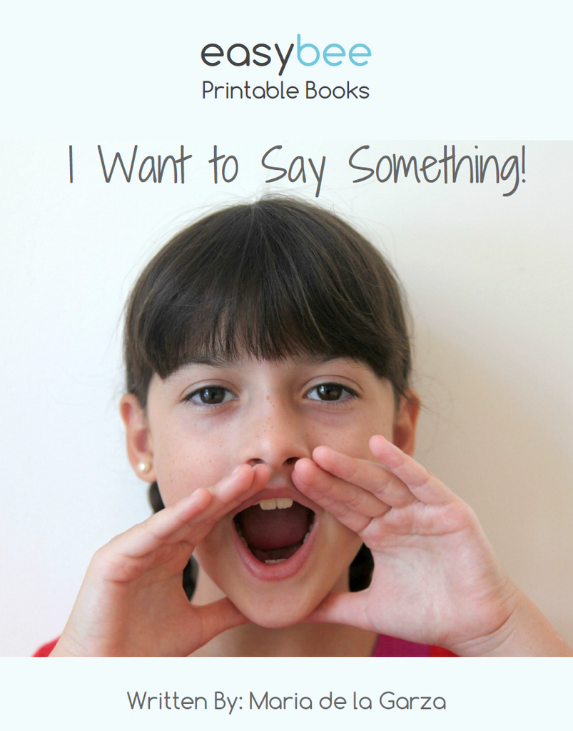 I Want to Say Something!- Selective Mutism Printable Book