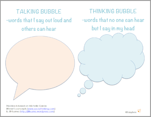 FREE TALKING THINKING BUBBLE PRINTABLE