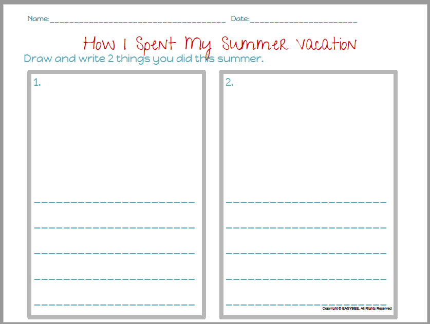 picture about Printable Freebie titled EASYBEE Summer months Getaway Printable FREEBIE English Spanish