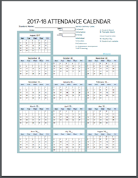 EASYBEE YEARLY Attendance Calendar Service Log GDOC (EDITABLE)