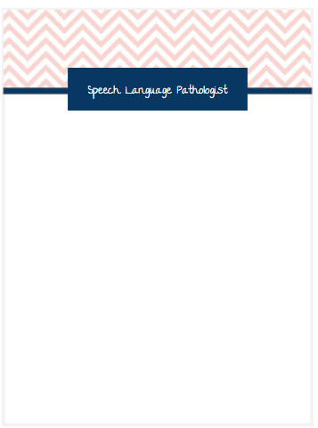 photograph relating to Printable Notepad identified as Speech Therapist Printable Notepad - scallop structure