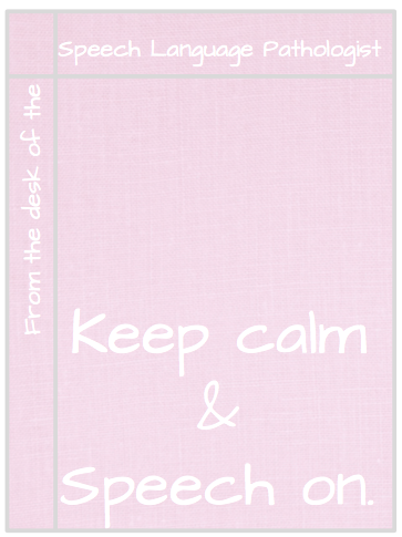 Speech Therapist Printable Notepad - linen design