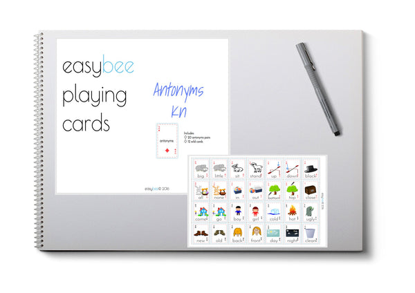 Antonym Playing Card Deck- Kinder
