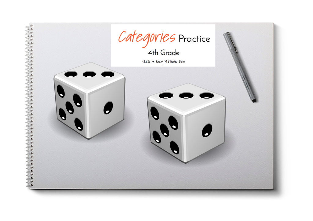 Category Print & Fold Dice- 4th Grade