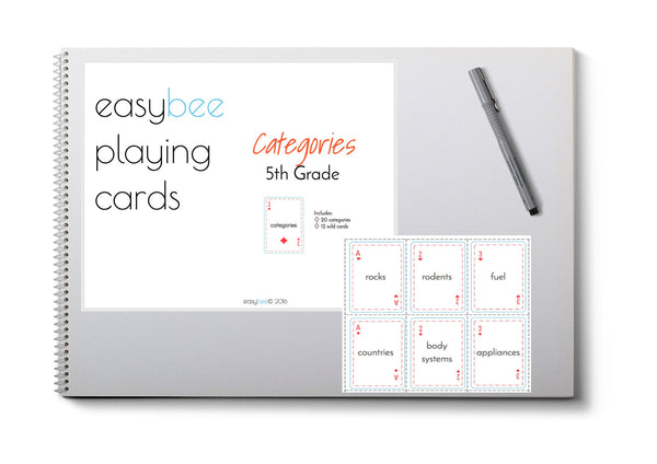 Categories Playing Card Deck- 5th Grade