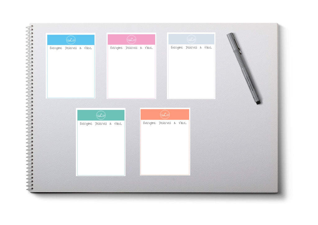 Speech Therapist Printable Notepad - SLP Everyone Deserves a Voice design