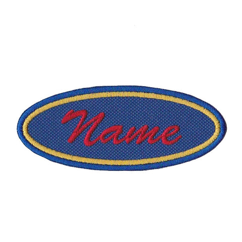 2 Color Border 1.5 X 4 Oval Personalized Custom Patch Embroidered Name Patch