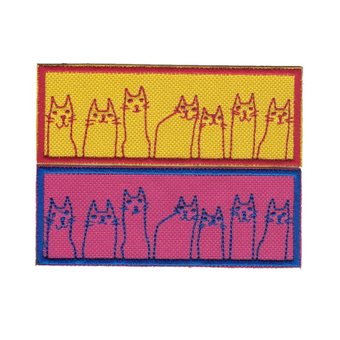 Cats Cats and More Cats Embroidered Patch Iron on Applique