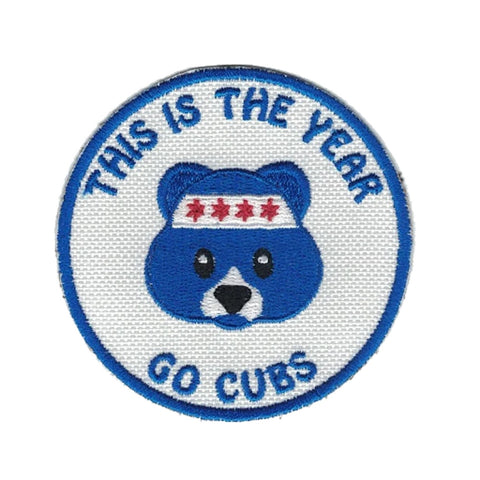 Chicago Cubs Patch Bear Patch Chicago Patch Cubs Fan Iron on Patch Baseball Patch