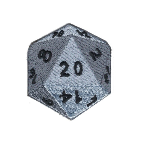 Embroidered Patch D20 Iron On  Applique