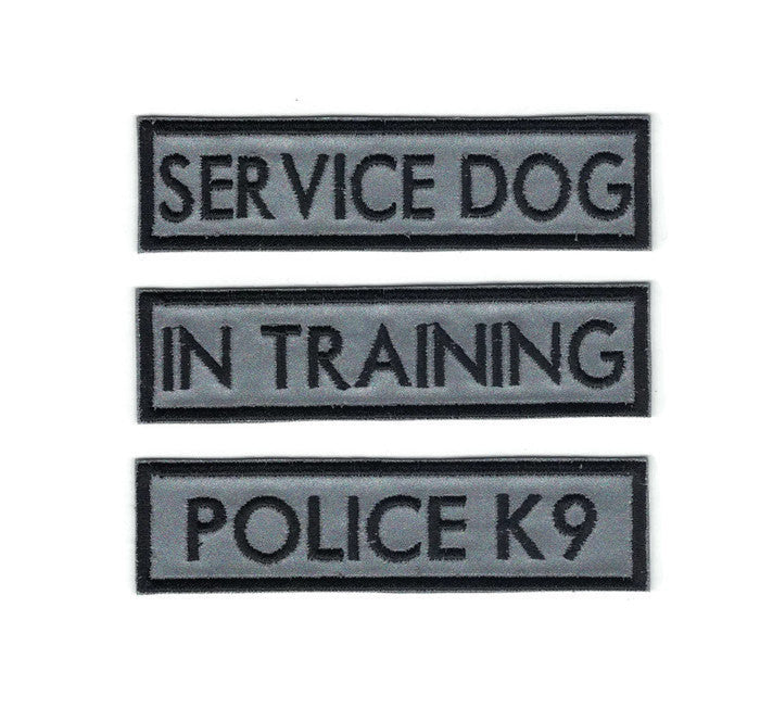 Reflective 3M Service Dog Patches Velcro Available