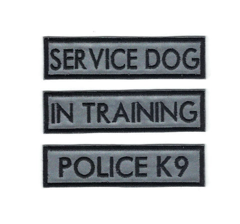1 by 4 Reflective 3M Service Dog Patches