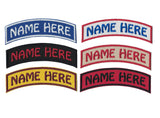 Arched Embroidered Patch Custom Patch Name Patch with Velcro Option Personalized Name Patch Name Tag