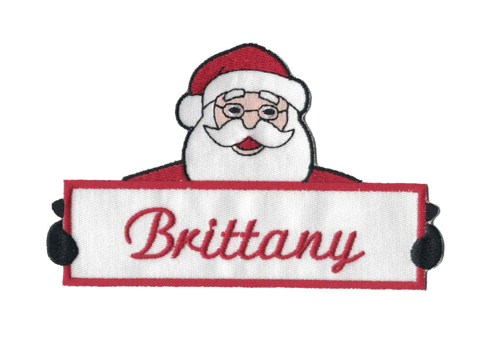 Custom Santa Christmas Name Patch