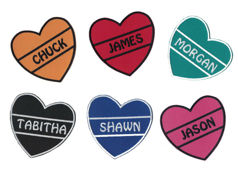 Tatoo Heart Valentine Name Patches Iron on Appliques