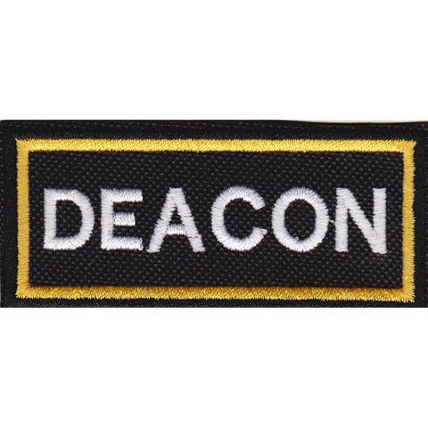 3.5 by 1.5 Personalized Custom Embroidered Name Patch with Double Border