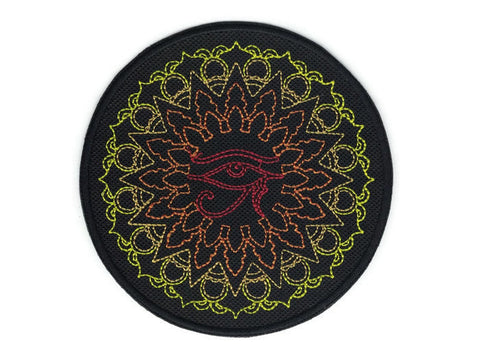 Embroidered Patch Eye of Ra Medallion Iron on Applique