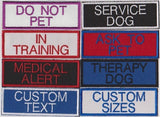 Custom Service Dog Patches Embroidered Patch Velcro Available
