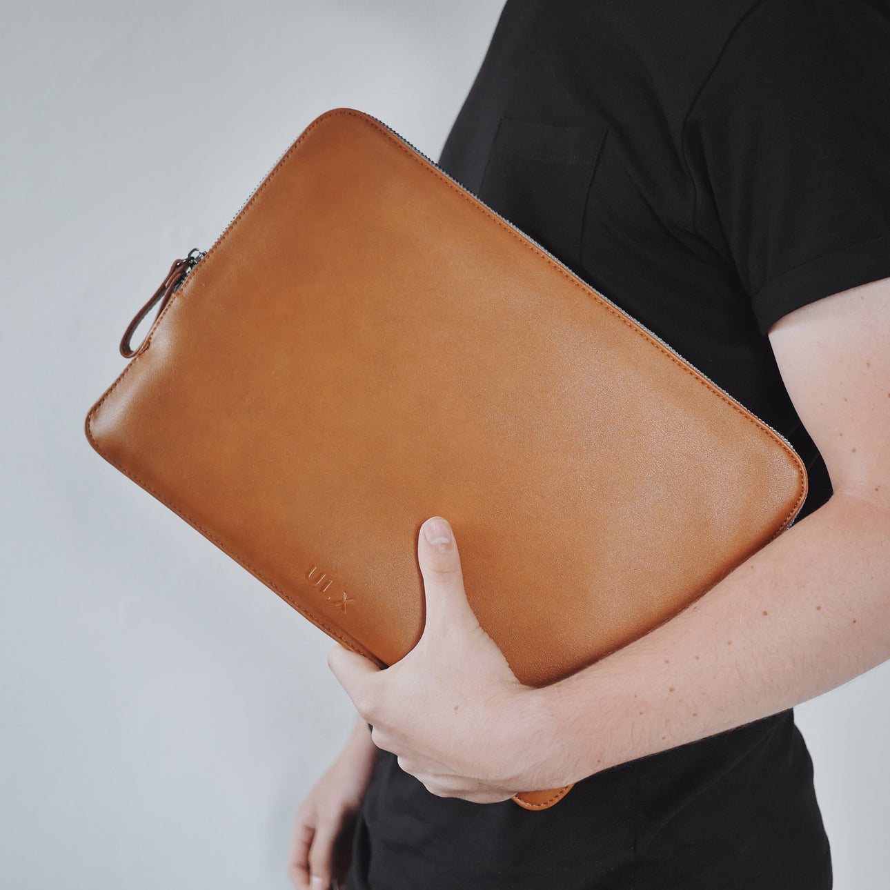Leather MacBook Sleeve - Brown