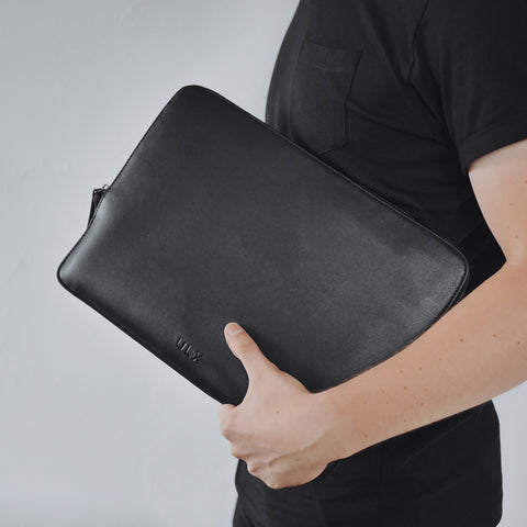 Leather MacBook Sleeve - Black