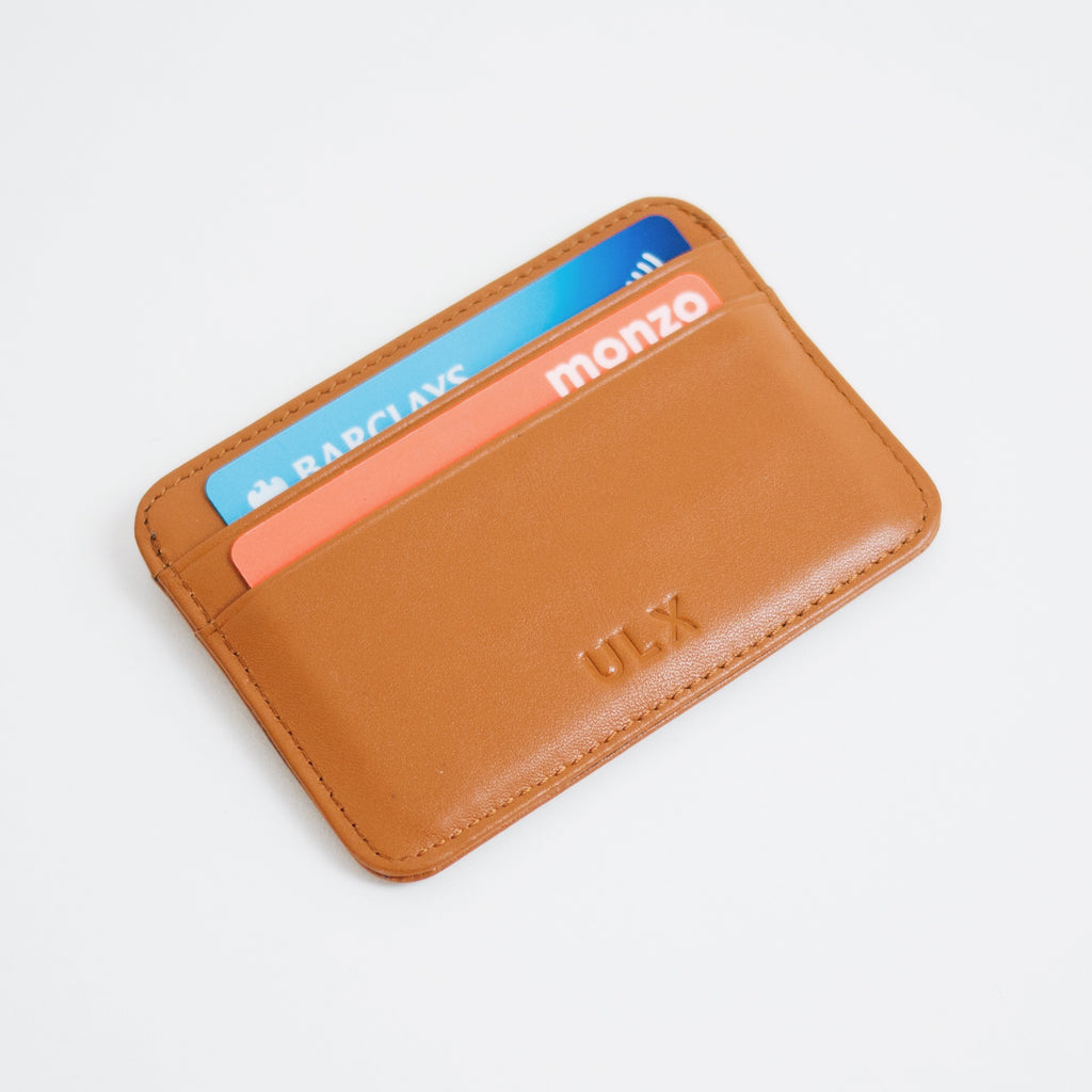 Genuine Leather Card Holder - Brown