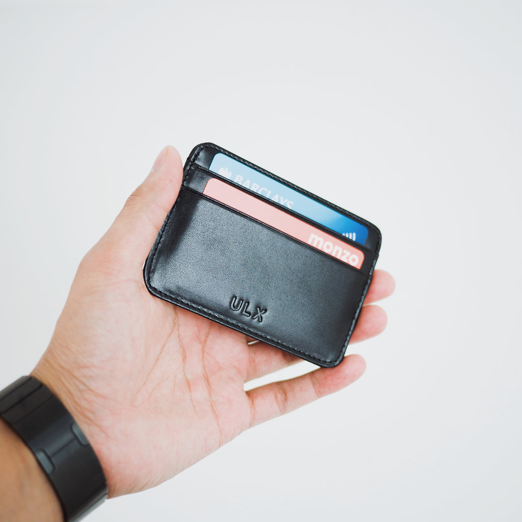 Genuine Leather Card Holder - Black