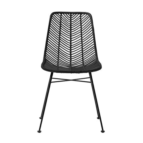 Black Wicker Dining Chairs