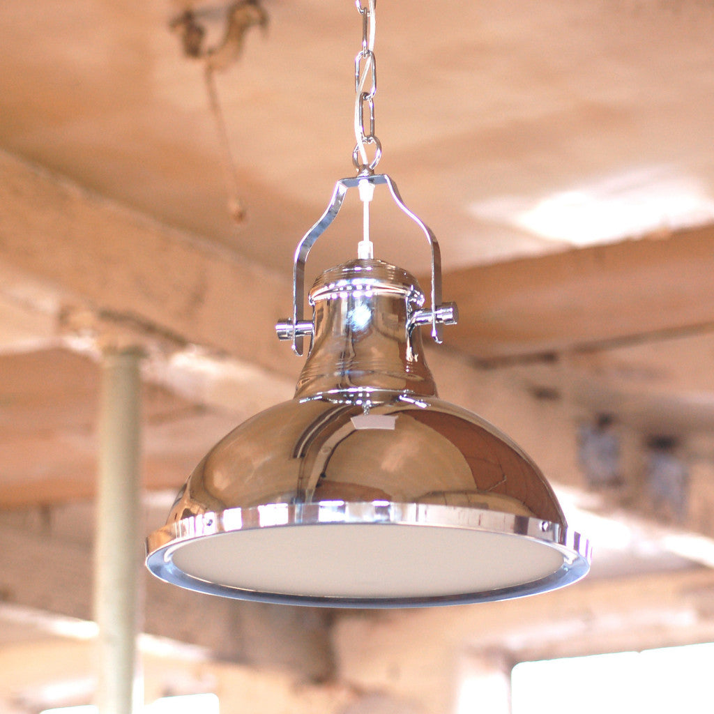 Industrial ceiling light warehouse light silver pendant light chrome industrial ceiling light mozeypictures Image collections