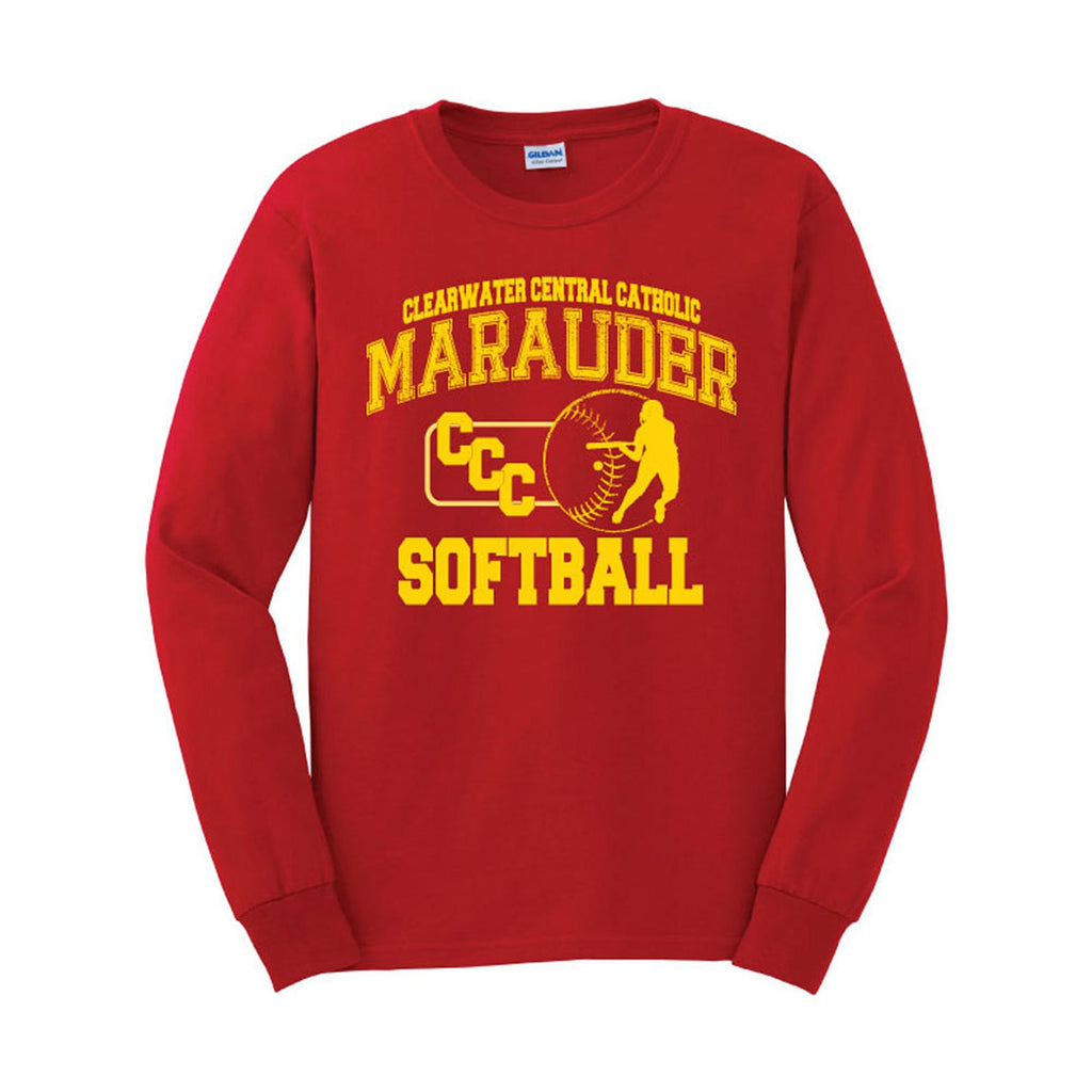 CCC Softball Long Sleeve T-shirt Distressed Design