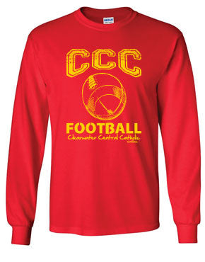 CCC Marauder Football Long Sleeve T-shirt - LIMITED QUANTITIES - ONLY AVAILABLE WHILE SUPPLIES LAST