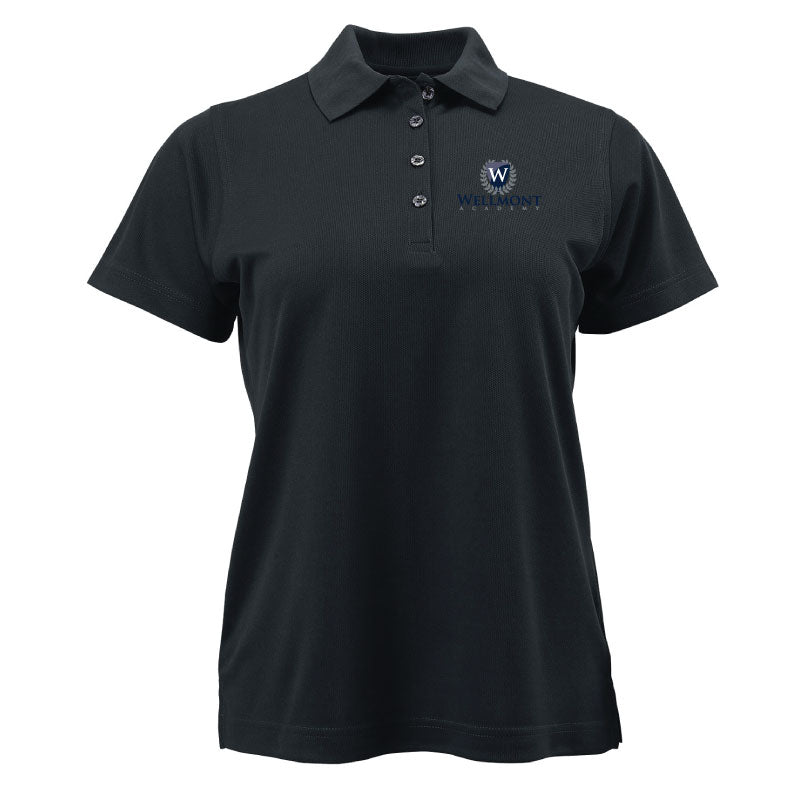 Wellmont Academy Ladies' Short Sleeve Drifit Polo