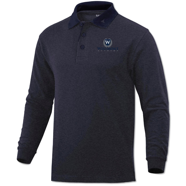Wellmont Academy Youth Long Sleeve Polo
