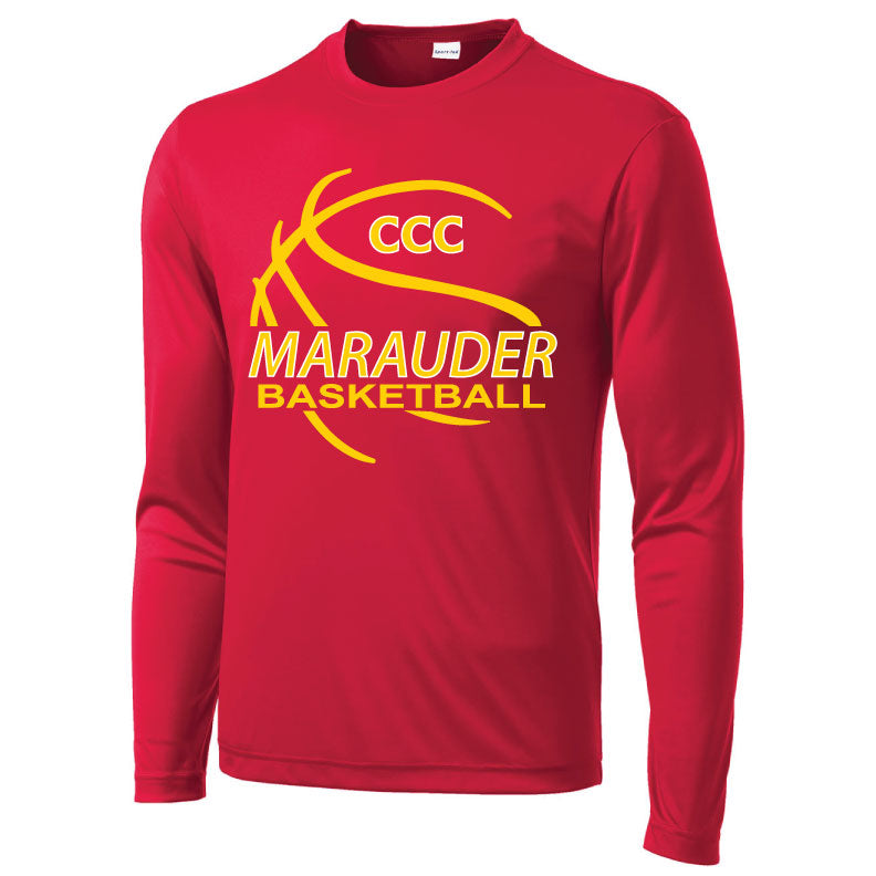 CCC MARAUDER BASKETBALL LONG SLEEVE DRIFIT T-SHIRT - LIMITED QUANTITIES - ONLY AVAILABLE WHILE SUPPLIES LAST