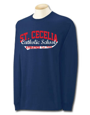 St. Cecelia Catholic School Rhinestone Crusaders Scoop T-shirt