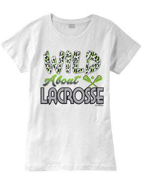 Wild About Lacrosse Fashion T-Shirt