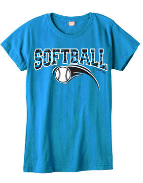 Zebra Softball Fashion T-Shirt