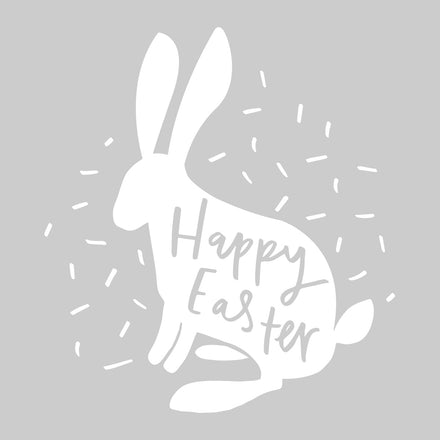 Happy Easter Rabbit Hand-Lettered Quote