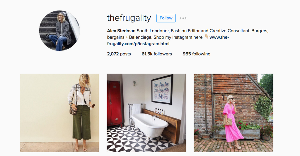 The Frugality Instagram