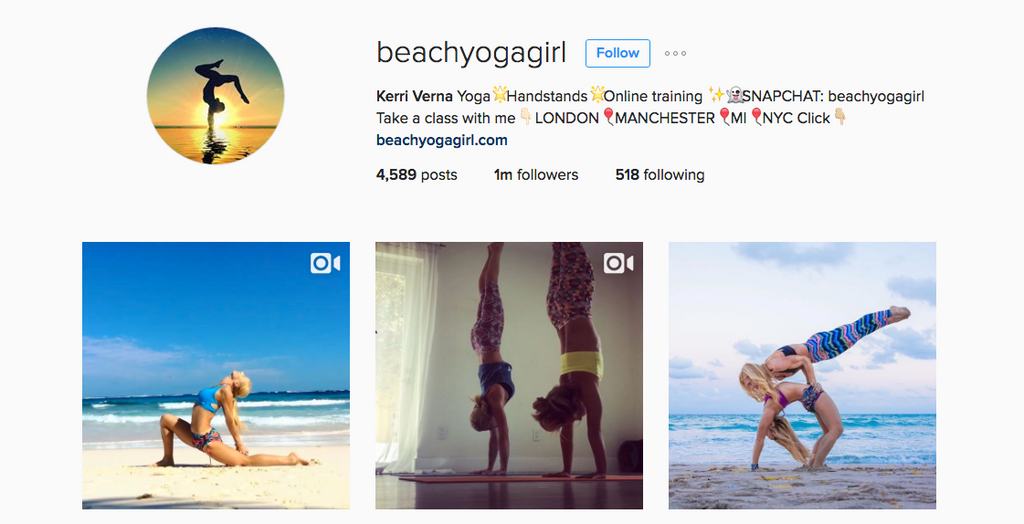 Beachyogagirl Instagram Account