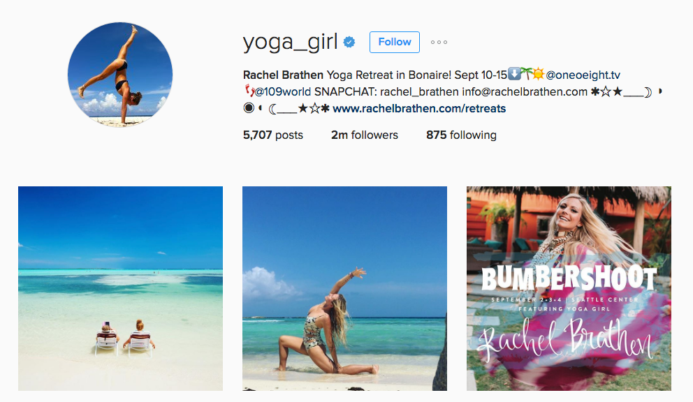 Yoga_girl instagram account Yoga