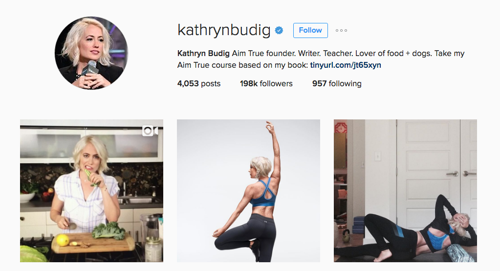 kathrynbudig Instagram Account Yoga